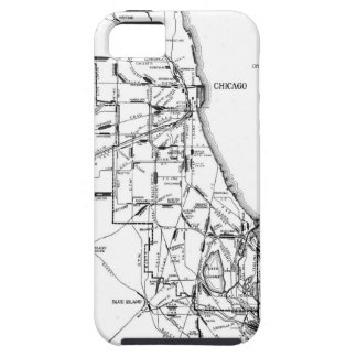 Vintage Map of The Chicago Railroad Network (1913) iPhone SE/5/5s Case
