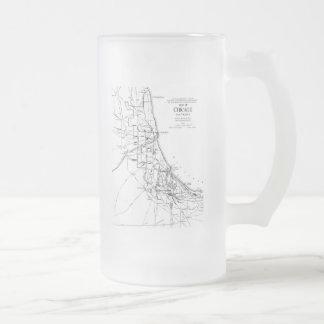 Vintage Map of The Chicago Railroad Network (1913) Mug