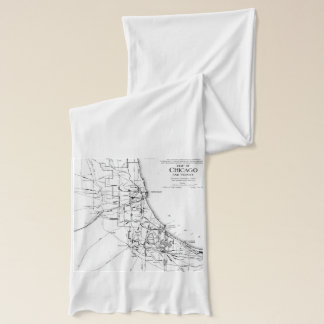 Vintage Map of The Chicago Railroad Network (1913) Scarf