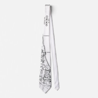 Vintage Map of The Chicago Railroad Network (1913) Tie