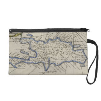 Vintage Map of The Dominican Republic 1750 Wristlet