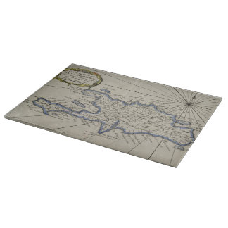 Vintage Map of The Dominican Republic (1750) Cutting Board