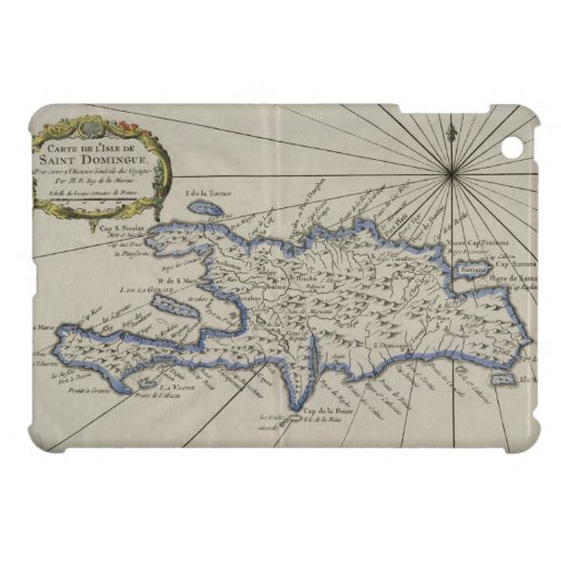 Vintage Map of The Dominican Republic (1750) Cover For The iPad Mini