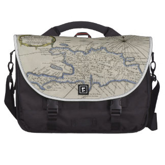 Vintage Map of The Dominican Republic 1750 Bag For Laptop
