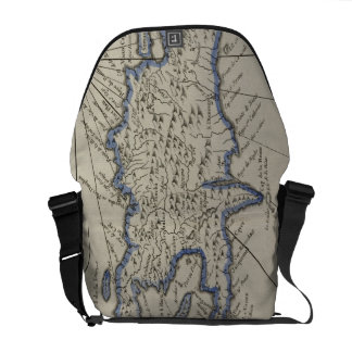 Vintage Map of The Dominican Republic 1750 Messenger Bag