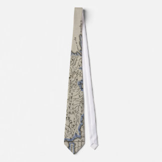 Vintage Map of The Dominican Republic (1750) Neck Tie