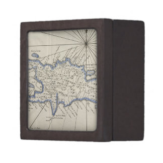 Vintage Map of The Dominican Republic (1750) Premium Gift Boxes