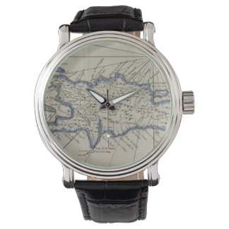 Vintage Map of The Dominican Republic (1750) Watches