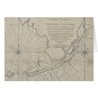 Vintage Map of The Florida Keys (1771) (2) Card