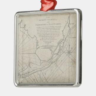 Vintage Map of The Florida Keys (1771) (2) Metal Ornament