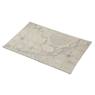 Vintage Map of The Florida Keys (1771) (2) Placemat