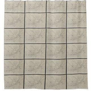 Vintage Map of The Florida Keys (1771) (2) Shower Curtain