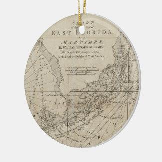 Vintage Map of The Florida Keys (1771) Ceramic Ornament