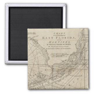 Vintage Map of The Florida Keys (1771) Refrigerator Magnets