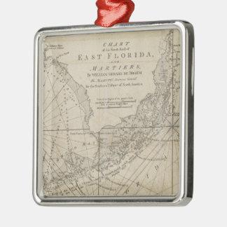 Vintage Map of The Florida Keys (1771) Metal Ornament
