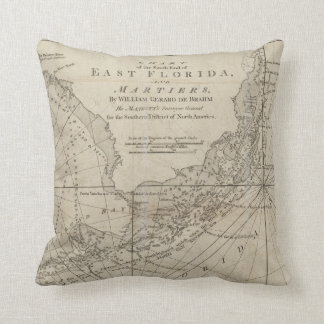 Vintage Map of The Florida Keys (1771) Pillow