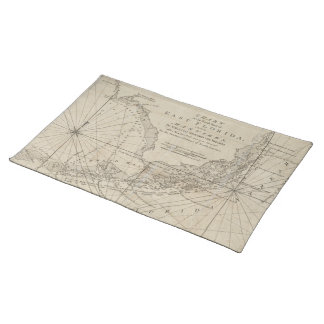 Vintage Map of The Florida Keys (1771) Cloth Placemat
