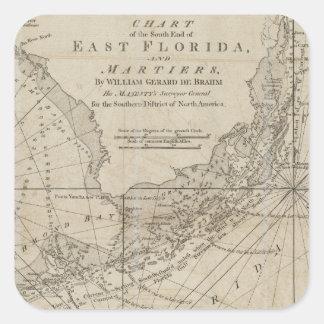 Vintage Map of The Florida Keys (1771) Square Sticker