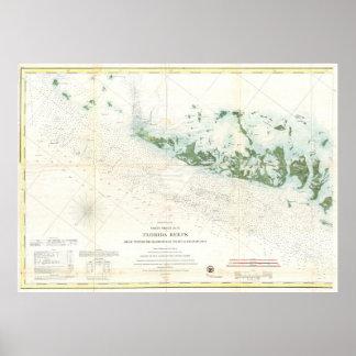 Vintage Map of The Florida Keys (1859) 2 Poster