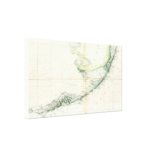 Florida Keys Map Canvas Art Prints Zazzle