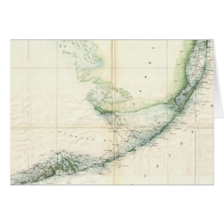 Vintage Map of The Florida Keys (1859) Card