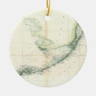 Vintage Map of The Florida Keys (1859) Ceramic Ornament