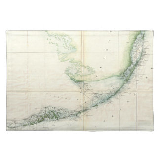 Vintage Map of The Florida Keys (1859) Cloth Placemat