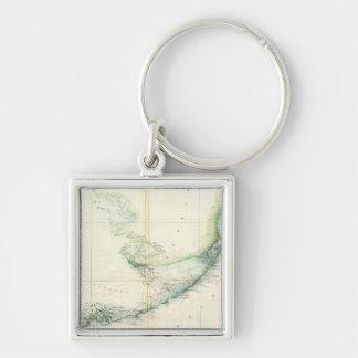Vintage Map of The Florida Keys (1859) Keychain
