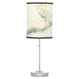 Vintage Map of The Florida Keys (1859) Table Lamp