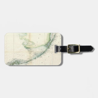 Vintage Map of The Florida Keys (1859) Luggage Tag