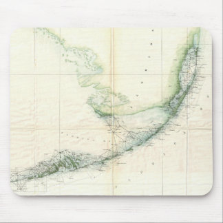 Vintage Map of The Florida Keys (1859) Mouse Pad