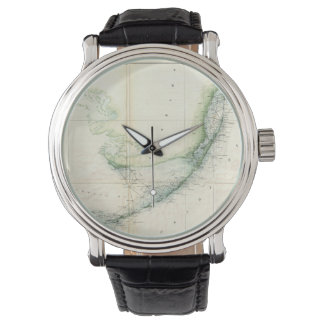 Vintage Map of The Florida Keys (1859) Wrist Watch