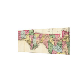 Old Florida Map Wrapped Canvas Prints  Zazzle