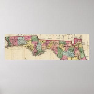 Vintage Map Of Florida Posters & Photo Prints | Zazzle