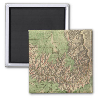 Vintage Map of The Grand Canyon (1926) Magnet