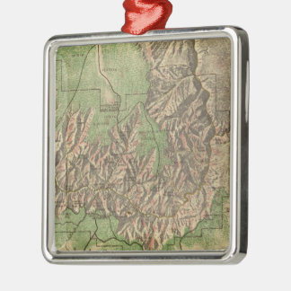 Vintage Map of The Grand Canyon (1926) Square Metal Christmas Ornament