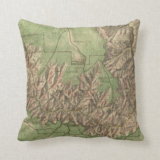 Vintage Map of The Grand Canyon (1926) Throw Pillow