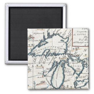Vintage Map of The Great Lakes (1696) Magnet