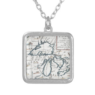 Vintage Map of The Great Lakes (1696) Custom Necklace