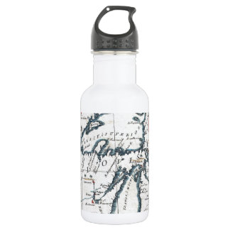Vintage Map of The Great Lakes (1696) 18oz Water Bottle