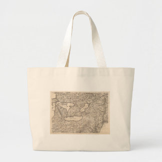 Vintage Map of The Great Lakes (1733) Jumbo Tote Bag