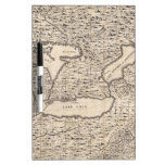 Vintage Map of The Great Lakes (1733) Dry Erase Board