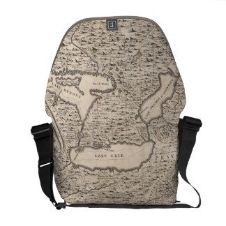 Vintage Map of The Great Lakes (1733) Messenger Bag