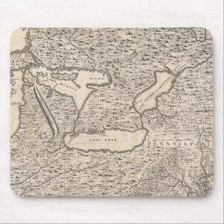 Vintage Map of The Great Lakes (1733) Mouse Pad