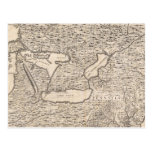 Vintage Map of The Great Lakes (1733) Post Cards