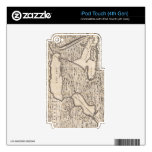 Vintage Map of The Great Lakes (1733) iPod Touch 4G Decal