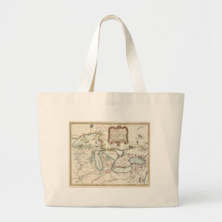 Vintage Map of The Great Lakes (1755) Jumbo Tote Bag