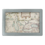 Vintage Map of The Great Lakes (1755) Rectangular Belt Buckle
