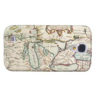 Vintage Map of The Great Lakes (1755) Galaxy S4 Cases