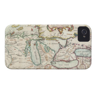 Vintage Map of The Great Lakes (1755) iPhone 4 Covers